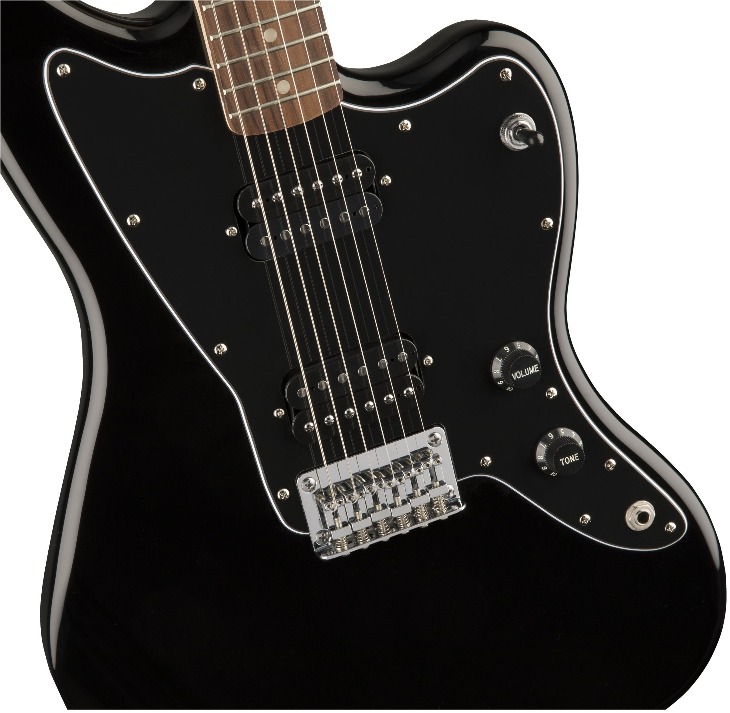 squier by fender affinity series jazzmaster hh electric guitar laurel fingerboard black. Black Bedroom Furniture Sets. Home Design Ideas