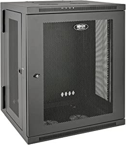 "Tripp Lite 15U Wall Mount Rack Enclosure Server Cabinet, Hinged, 20.5"" Deep, Switch-Depth (SRW15US)"