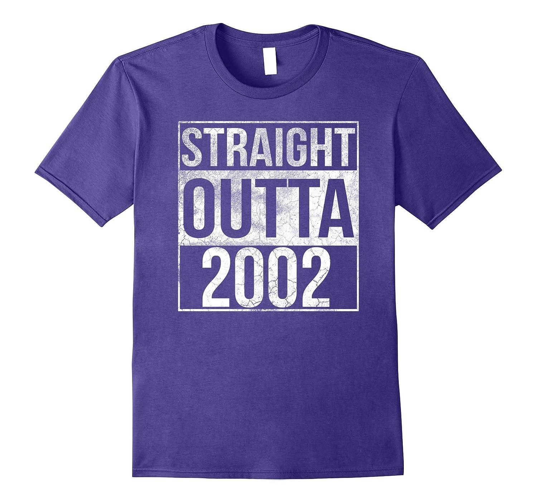 Straight Outta 2002 Shirt 15th Birthday Shirt-PL