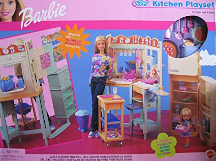 Amazon Com Barbie All Around Home Kitchen Playset 2000