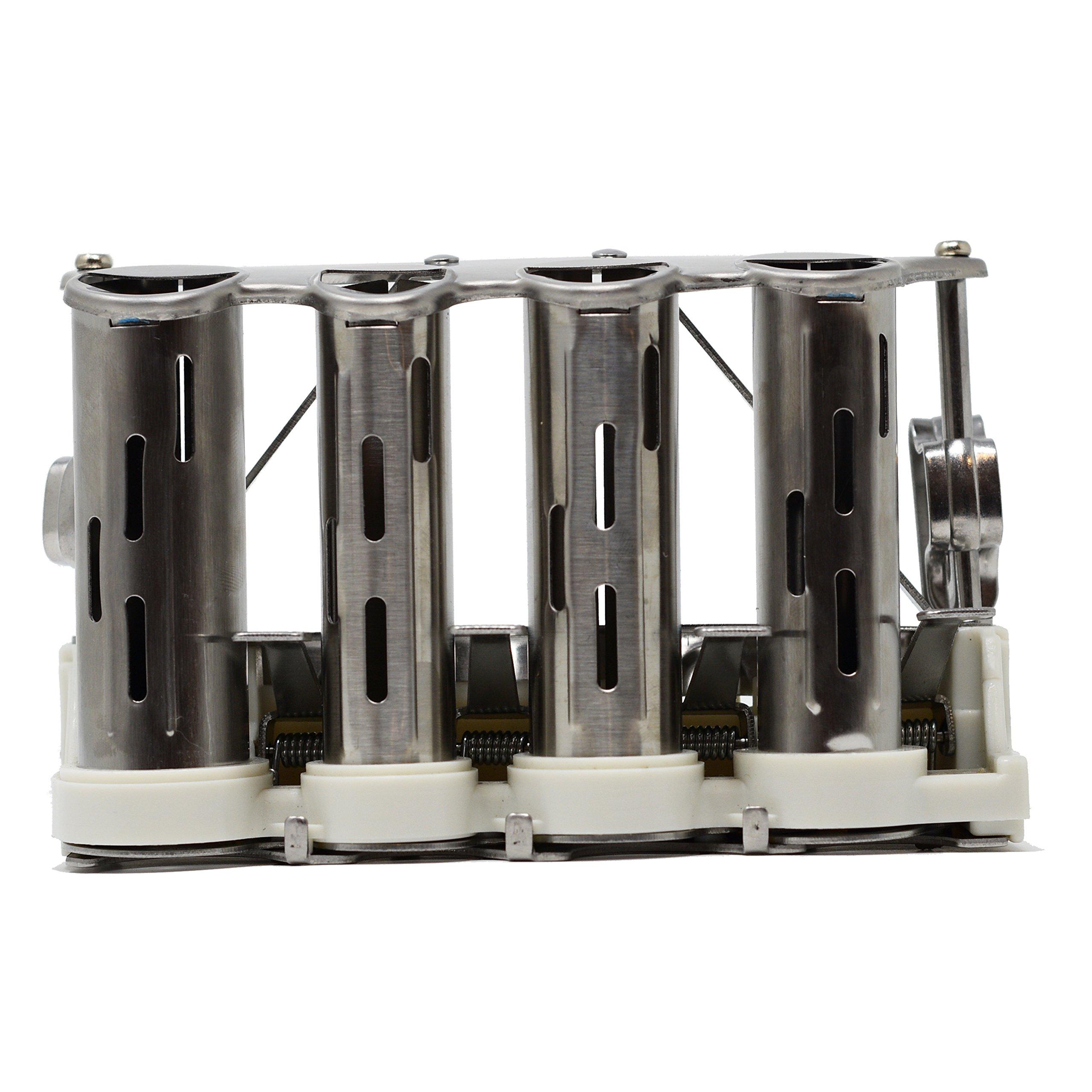 Nadex 4 Barrel Steel Coin Dispenser Money Changer with Belt Clips