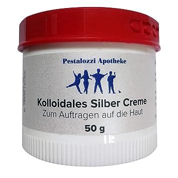 Kolloidales Silber Creme (50 g) aus Apotheken-Herstellung - hochwertige Qualität - bewährte Originalrezeptur Silbercreme Pest