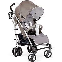 Hauck Vegas - silla de paseo con posiciones, plegado compacto, ligera, chasis aluminio, botellero, desde nacimiento hasta 25 kg, charcoal (gris)