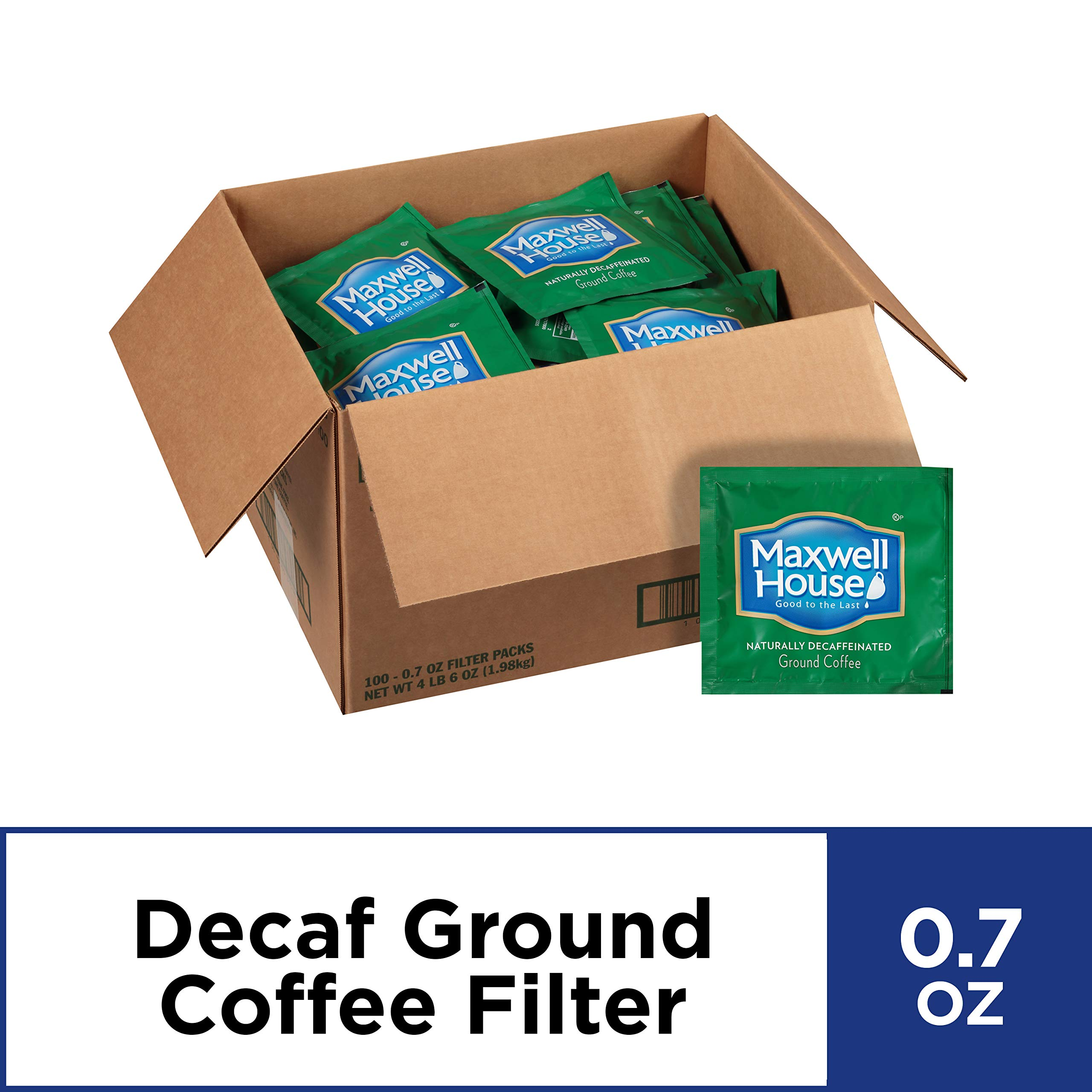 Maxwell House Decaf Ground Coffee Single Serve (0.7 oz Bags, Pack of 100)