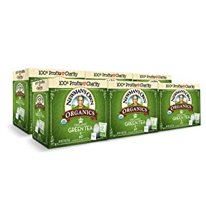 Newman's Own Organics Green Tea, 40 Individually Wrapped Tea Bags (Pack of 6)