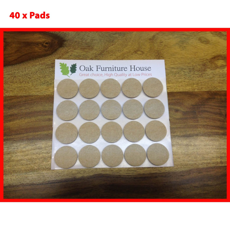 40 Oak Furniture Self Adhesive Felt Pads Wood Floor Protectors