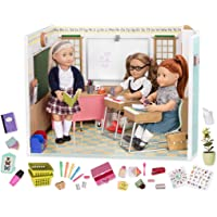"""Our Generation Awesome Academy School Set - 76Piece Set, Compatible with 18"""" Dolls, Brown/A BD37330"""