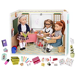 """Our Generation Awesome Academy School Set - 76Piece Set, Compatible with 18"""" Dolls"""