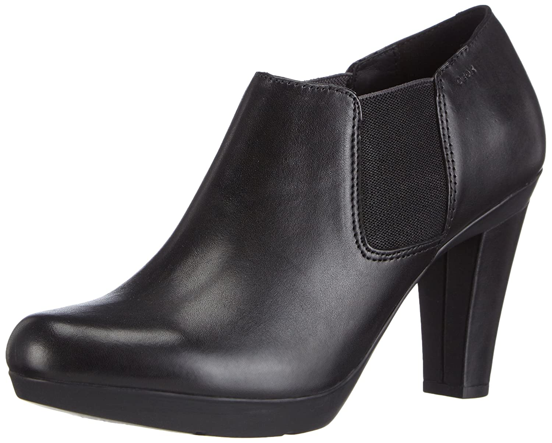 Geox D Inspiration A Damen Kurzschaft Stiefel  40 EU|Schwarz (C9999black)