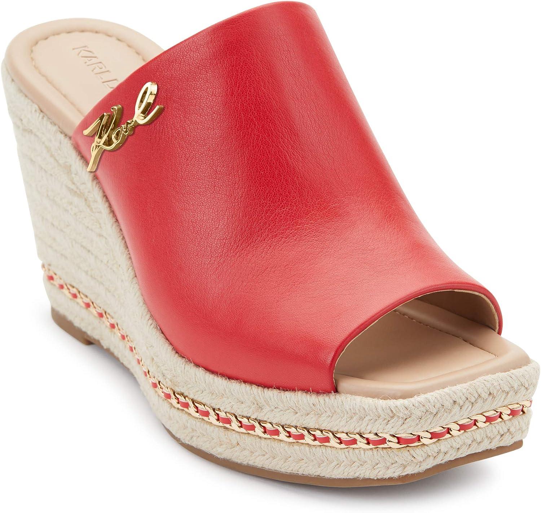 Sale Special Price Karl Lagerfeld Paris Women's Ranking TOP16 Slip Sandal on Espadrille Wedge