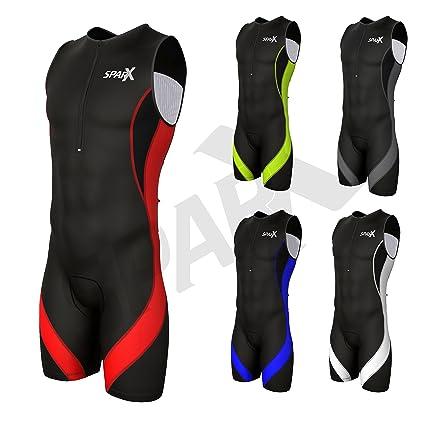 Sparx Elite Triathlon Suit Racing Tri Skin Cycling Suit Bike Swim Run  Padded (Black  0a942b5c0048