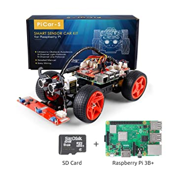 SunFounder Raspberry Pi Smart Robot Car Kit - PiCar-S Block Based Graphical Visual Programming