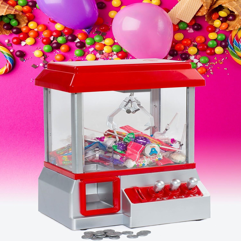 Rexco tradicional Fairground Candy Grabber escritorio Sweet Treat Retro Arcade Joystick máquina de dulces agarre Gadget divertido grulla juego dispensador