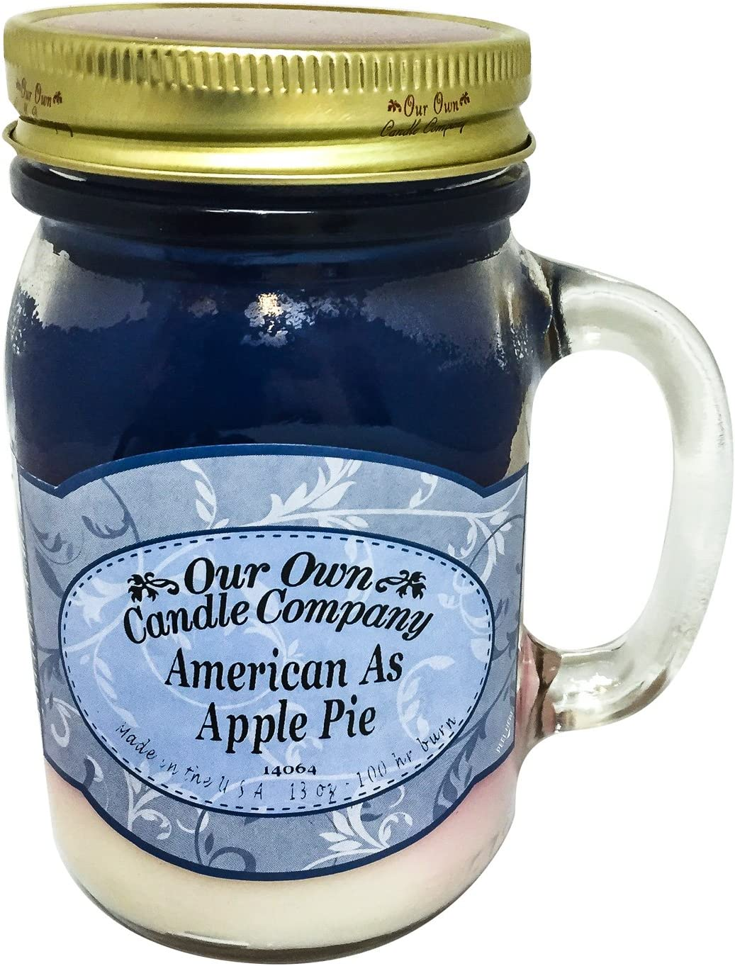 Our Own Candle Company American As Apple Pie Scented 13 Ounce Mason Jar Candle