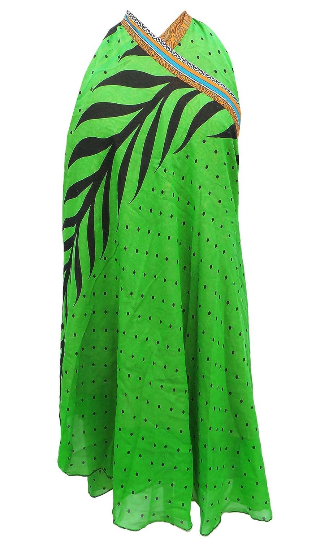Reversible Kleid Georgette Magie Wickelrock Plus Größe Kurz 33