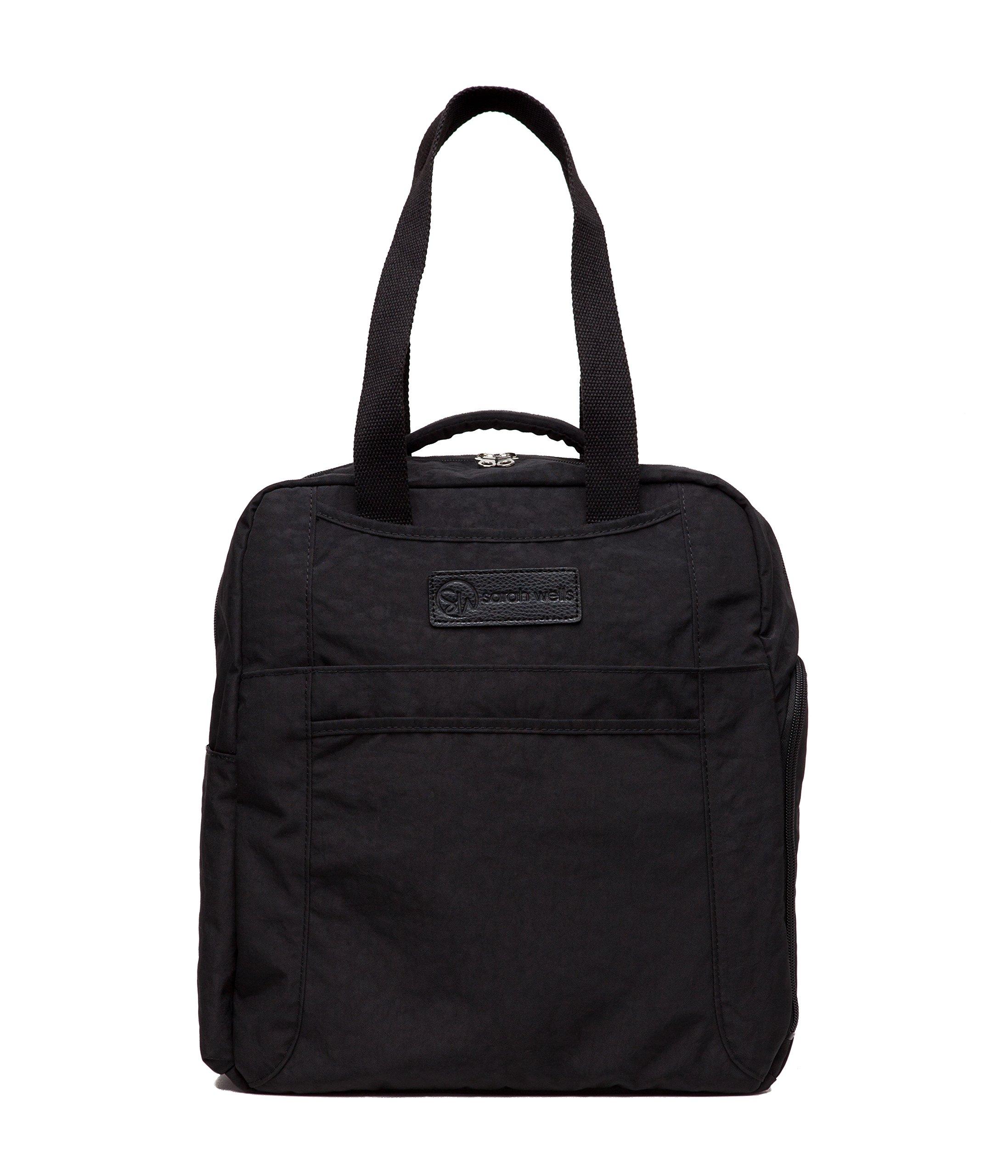 Sarah Wells Kelly Convertible Breast Pump Bag and Backpack (Black) by Sarah Wells