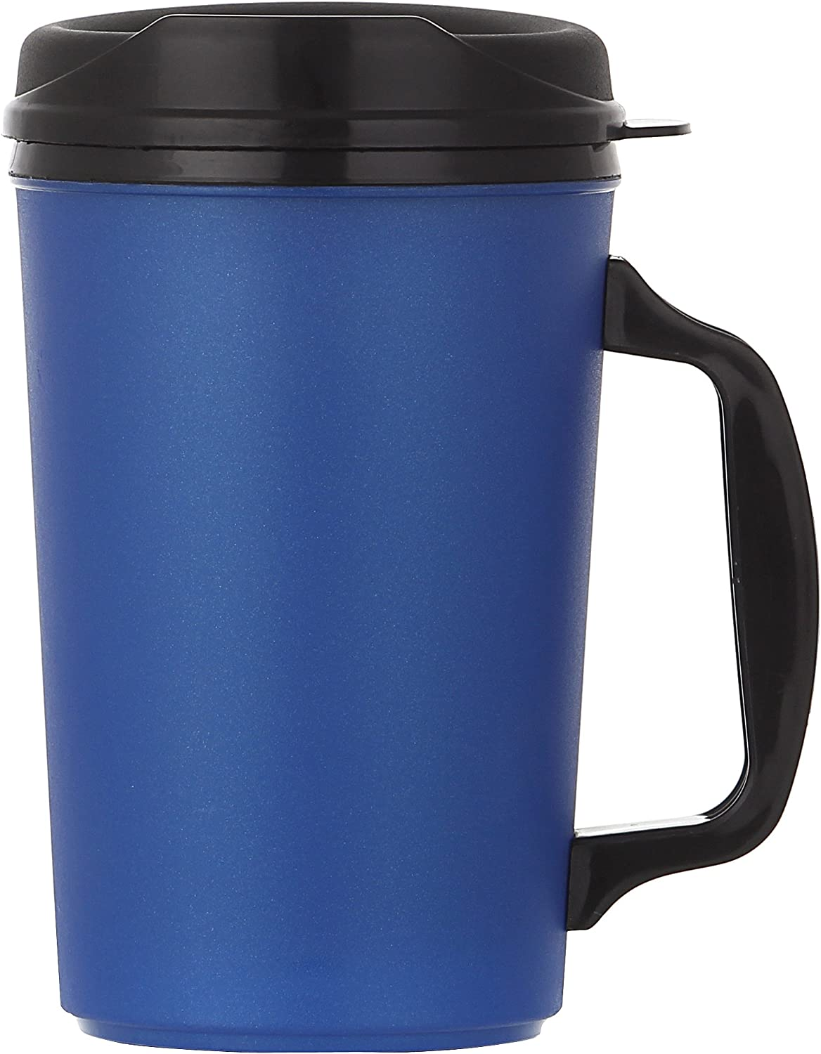 ThermoServ Foam Insulated Mug, 20-Ounce, Pearl Dark Blue