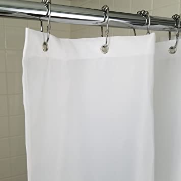 Claw Foot Tub Fabric Shower Curtain Extra Wide Washable And Reusable 100%  Polyester