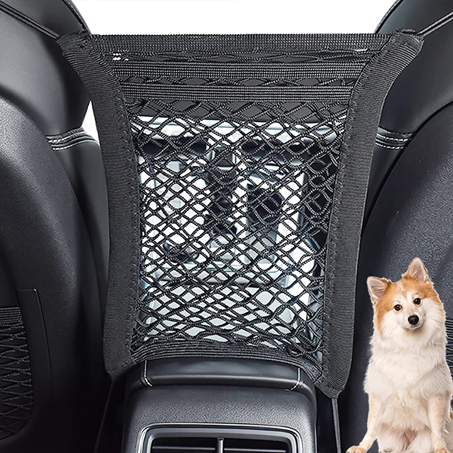 Bestdoggo Car Dog Barrier for Dogs Net Barrier 3 Layers Car Mesh Organizer, Car Divider, Dog Car Accessories, Pet Barrier, Design for Safety of Driving with Children & Pets Dog Barrier SUV(Black) : Pet Supplies