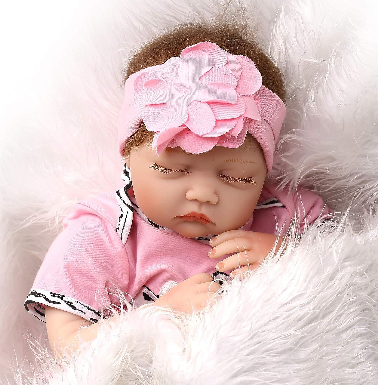 Reborn Complete Free Shipping Baby trust Dolls Girl 22 Silicone Vinyl Reali Newborn Inch