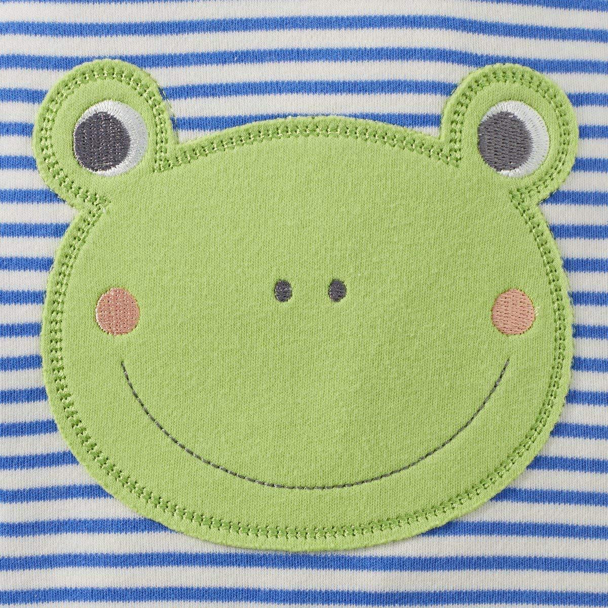 Bornino Happy Days Strampler-Set Ringel Frosch 2-TLG. 100/% Baumwolle - Langarmshirt /& gestreifter Strampler Offwhite//Offwhite gestreift