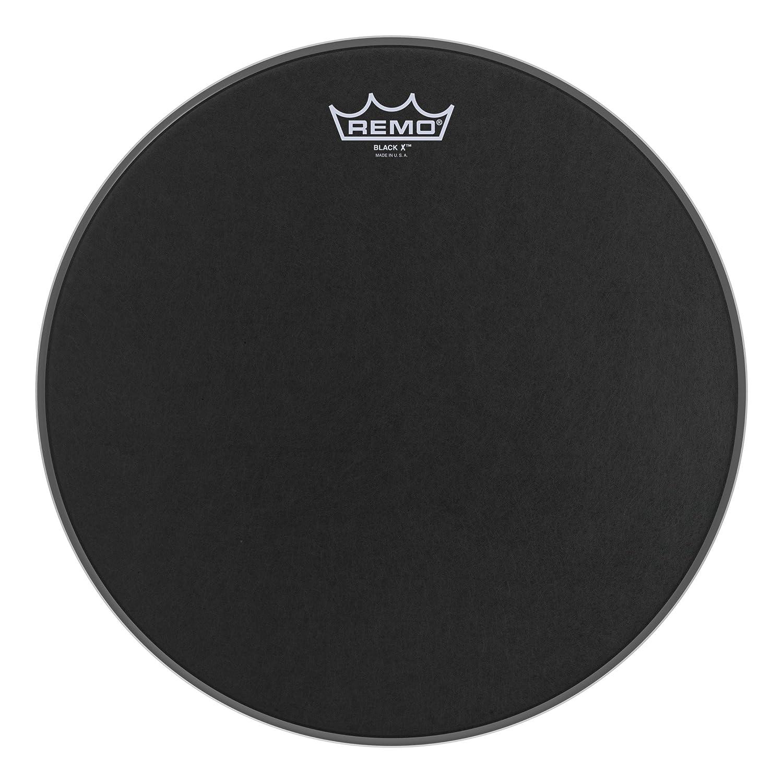 Remo Emperor X Black Suede Snare Drumhead - Bottom Black Dot, 13