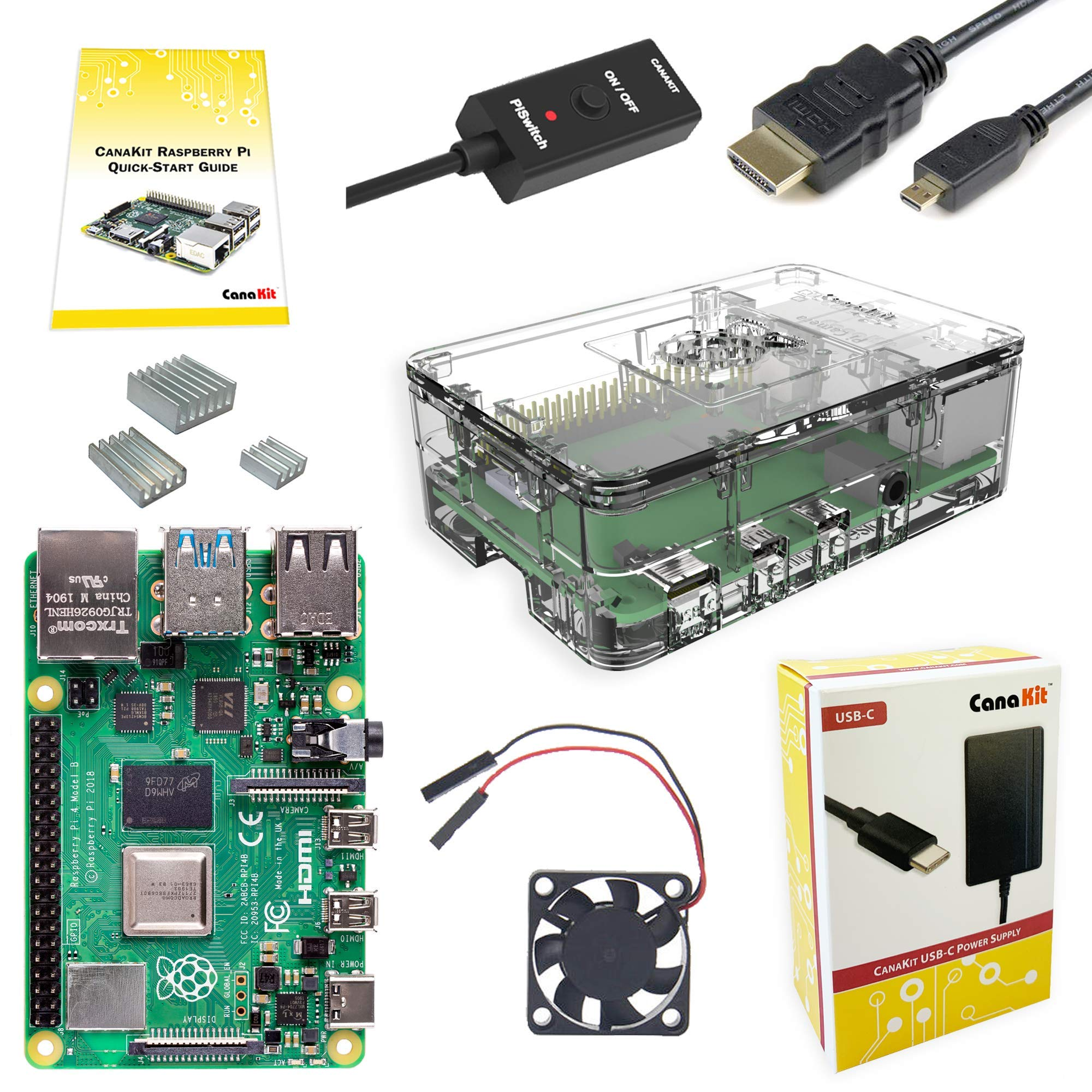 CanaKit Raspberry Pi 4 4GB Basic Starter Kit with Fan (4GB RAM) by CanaKit
