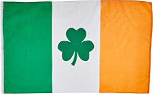 3'x5' IRISH SHAMROCK FLAG, clover saint paddys pattys patty's ireland paddy's patricks st patrick's day