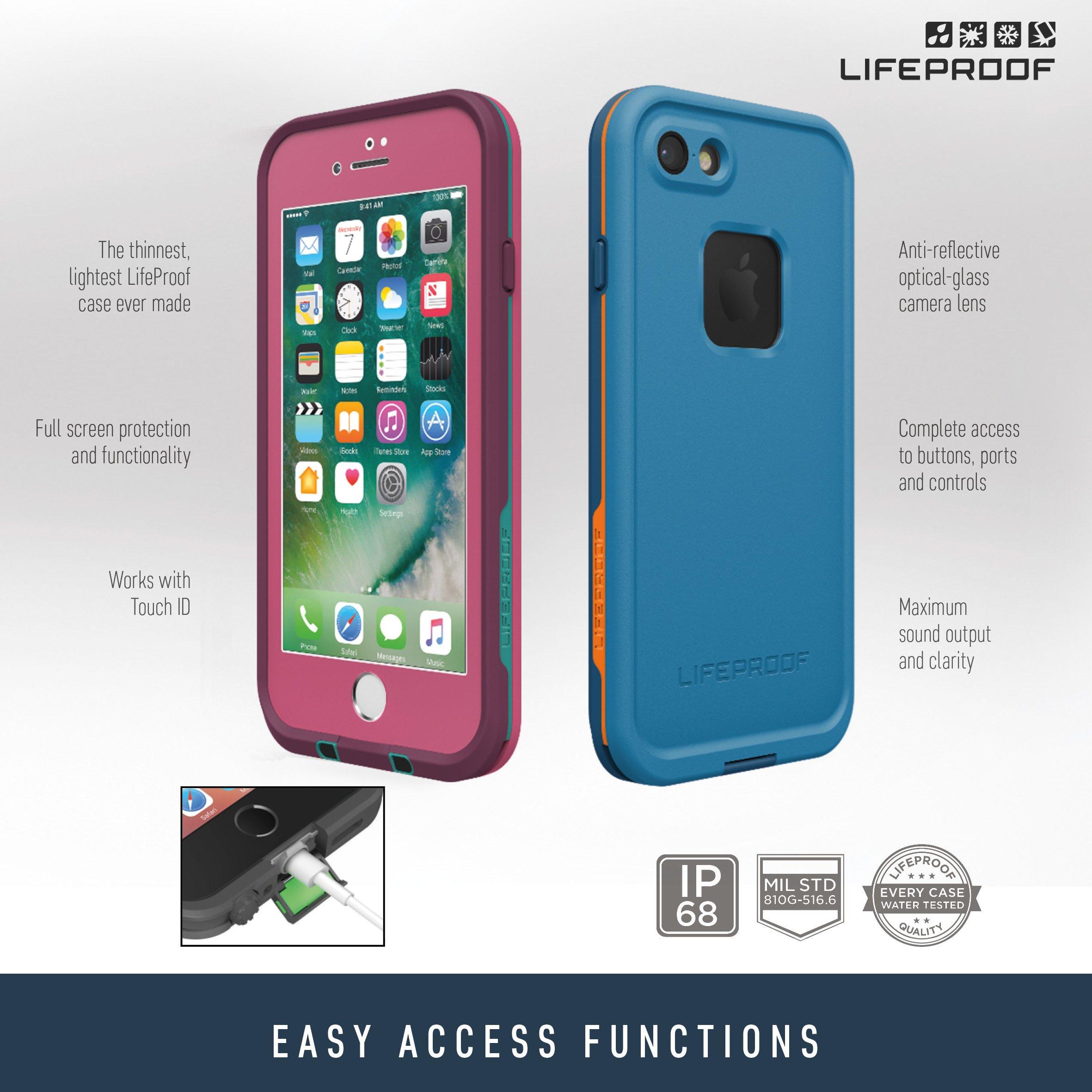 best website d5931 bb727 Lifeproof FRĒ SERIES Waterproof Case for iPhone 7 Plus (ONLY) - Retail  Packaging - BASE CAMP BLUE (COWABUNGA BLUE/WAVE CRASH/MANGO TANGO)