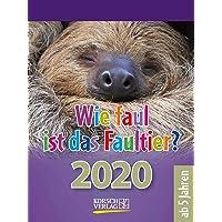 Wie faul ist das Faultier? 2020: Tages-Abreisskalender für Kinder mit Rätseln, Spiel und Witz I Aufstellbar I 12 x 16 cm