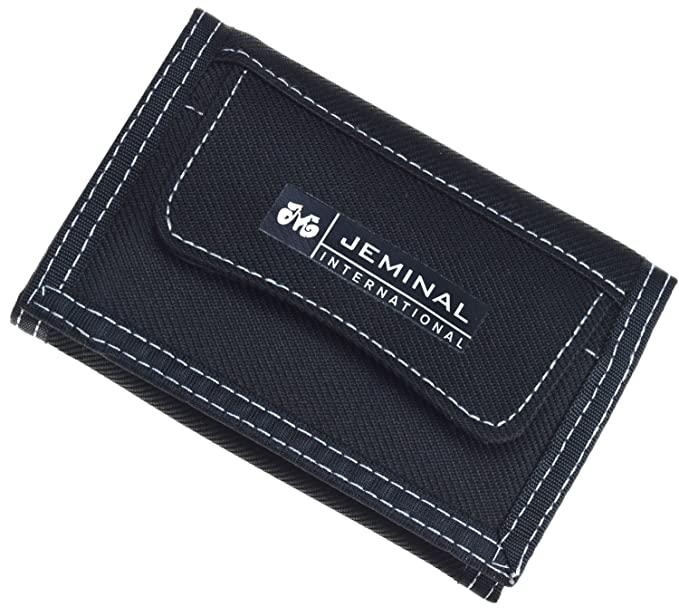 JEMINAL New Canvas Short Trifold Mens Boys Wallets Purse with Coin Pocket