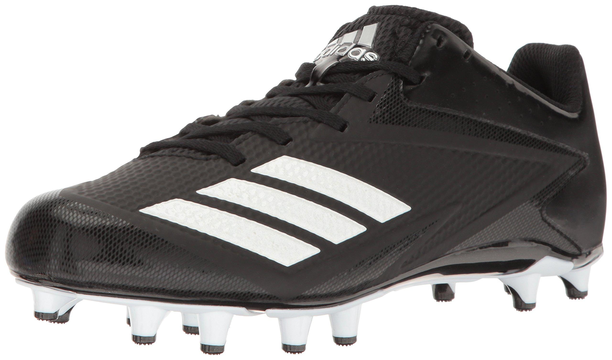 adidas Men's Freak X Carbon Mid Football Shoe, Black/White/Metallic Silver, 15 Medium US