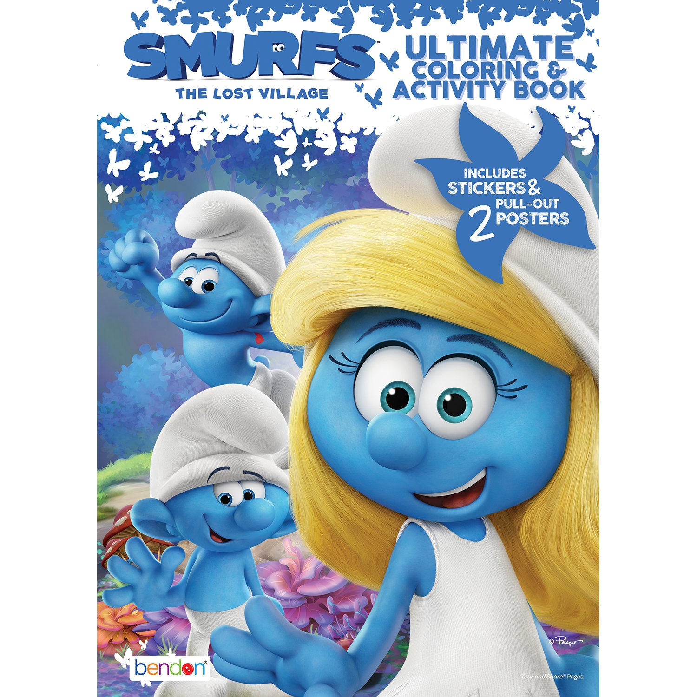 Amazon.com: Bendon Smurfs The Lost Village Movie, Coloring ...