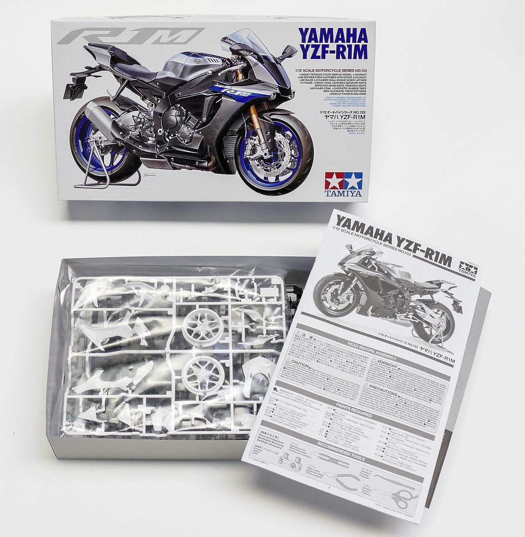 Tamiya 14133 14133-1:12 - Maqueta de Yamaha YZF-R1M (Montaje de plástico, sin lacar)