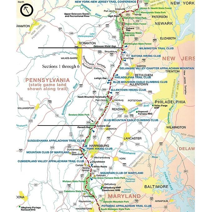 Amazon.com : Official Northern Pennsylvania Appalachian Trail Maps ...