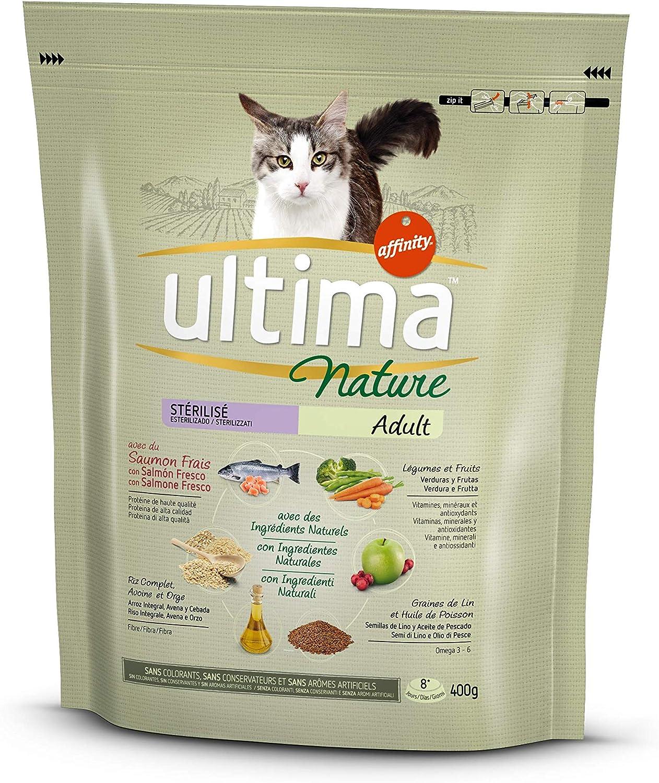 Ultima Nature Pienso para Gatos Esterilizados con Salmón - 400 gr ...