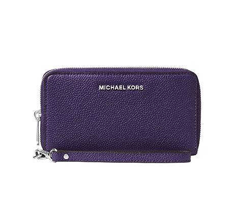 09cdad89fb38ff MICHAEL Michael Kors KORS STUDIO Large Flat Phone Case Wristlet IRIS:  Amazon.ca: Shoes & Handbags