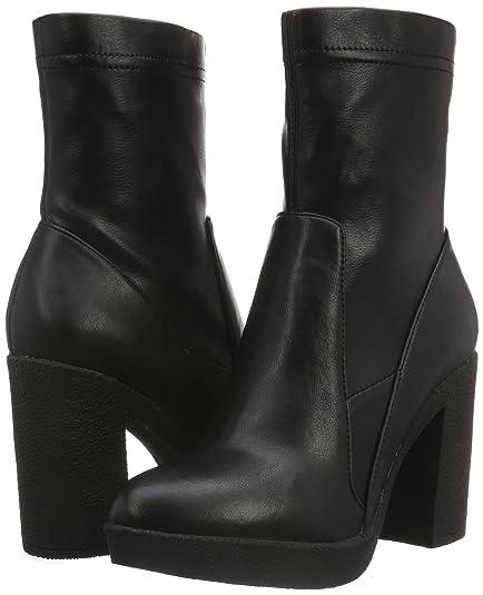 Para Cortas Ngb913 Cafènoir Botas Negro Con Tacón MujerColor Qrhdts