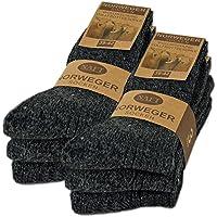 6 paar noorse sokken met wol in zwart grijs of antraciet wintersokken herensokken - sockenkauf24