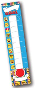 Emoji Dry Erase Goal Setting Fundraising Thermometer Goal Chart Temperature Poster for Office Classroom School and Kids