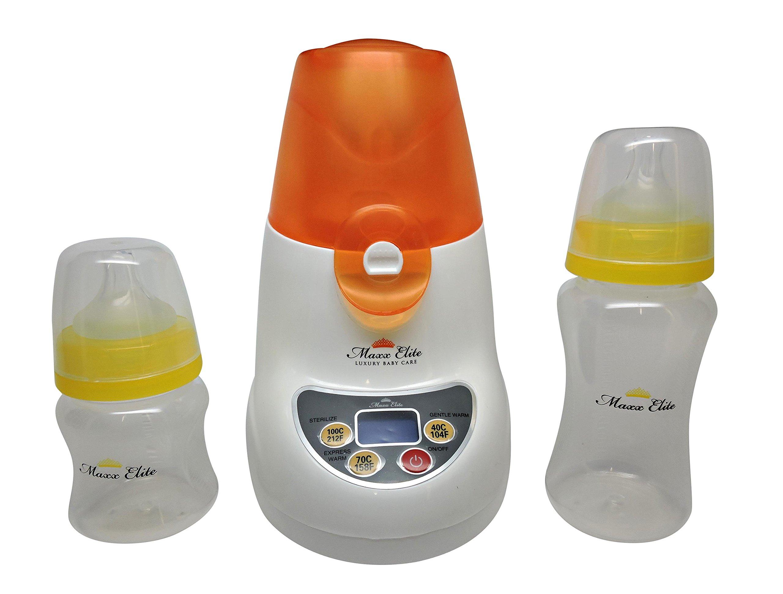 Maxx Elite ''Digital Gentle Warm'' Bottle Warmer & Sterilizer w/''Steady Warm'' and LCD Display (Orange) by Maxx Elite (Image #2)