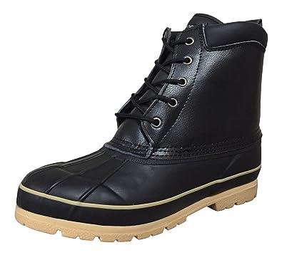 Climate X Mens SB31 Duck Boots Black 7 M US