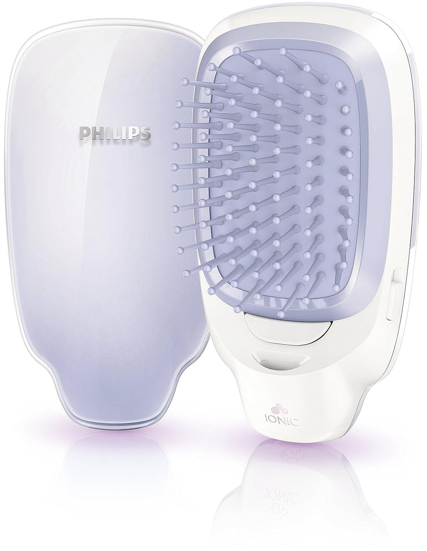 Philips EasyShine HP4585/00 Utensilio de peinado Cepillo alisador Violeta, Blanco - Moldeador de pelo (Cepillo alisador, Violeta, Blanco, AAA, 65 mm, ...