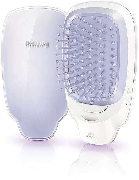 Philips EasyShine HP4585/00 Utensilio de peinado Cepillo alisador Violeta, Blanco - Moldeador de