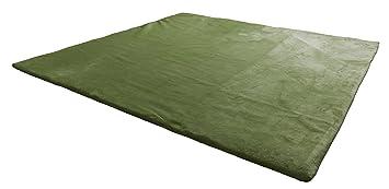 ラグマット マイクロファイバーフランネル mofua (洗える 低反発ラグマット カーペット) 190×190cm 着せ替え