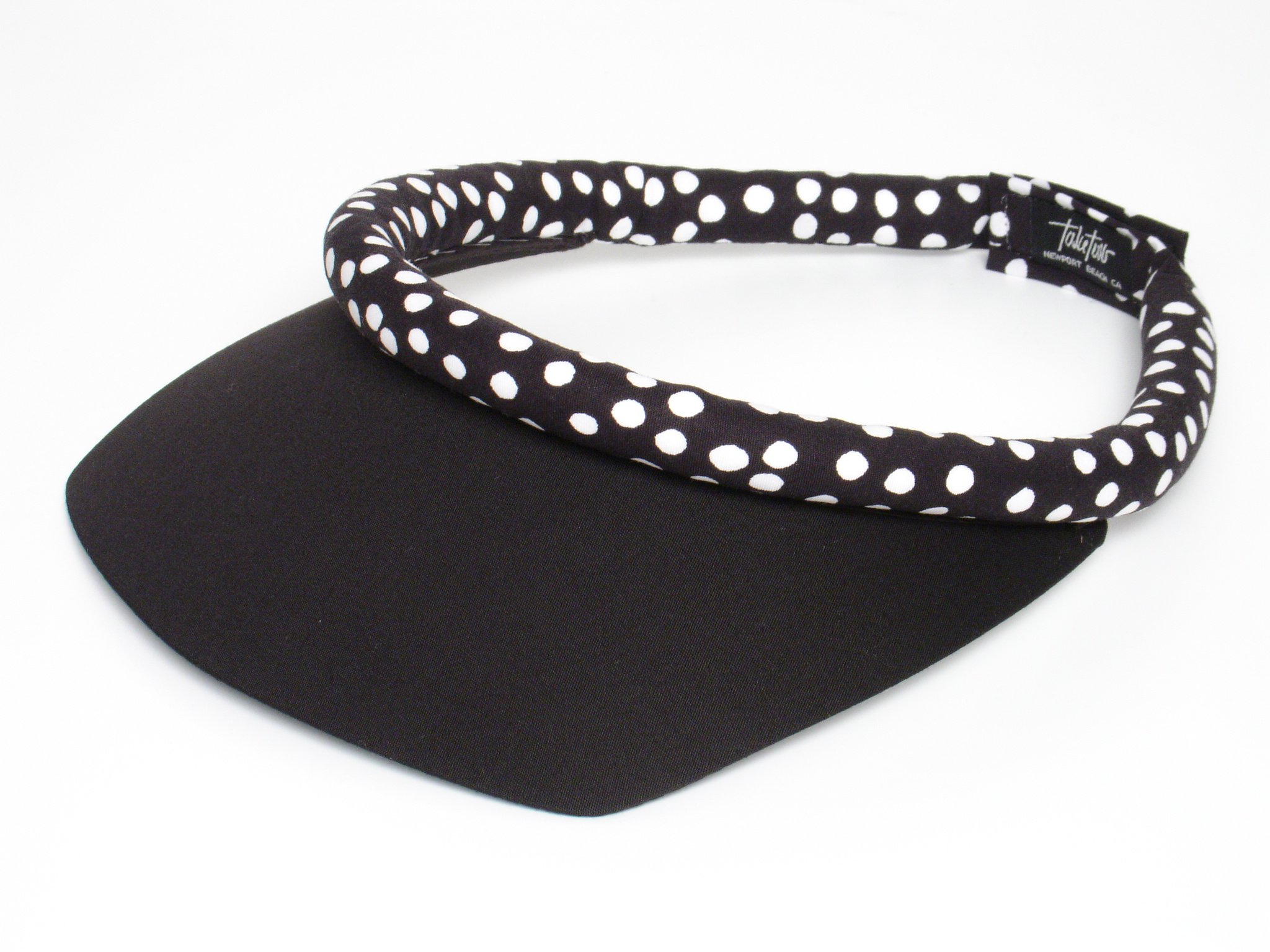 Take Two Women's Square Brim Visor One Size black/white dots
