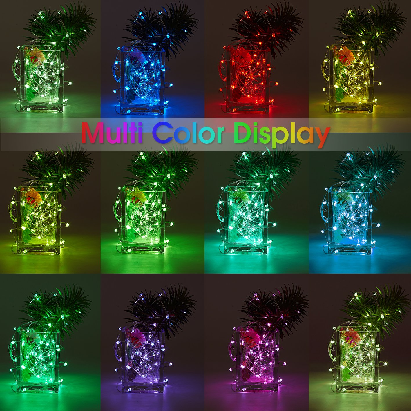 Amazon.com : Fairy Lights Battery Operated Multi Color Changing ...