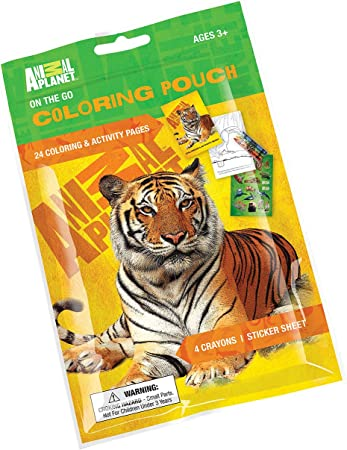 Amazon Com Primary Colors Animal Planet On The Go Coloring Pouch 826 Ap Office Products