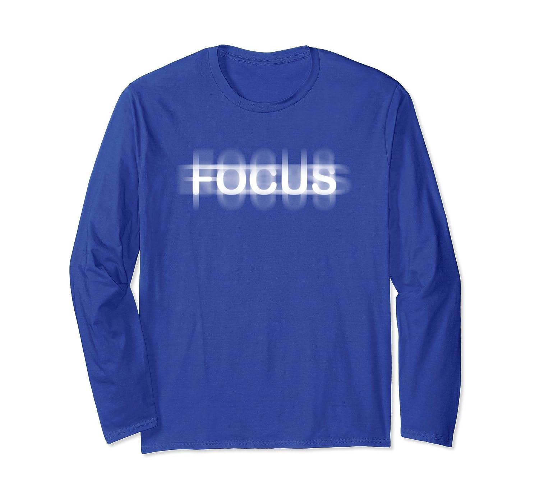 Focus Long Sleeve Shirt with Blur Effect-fa