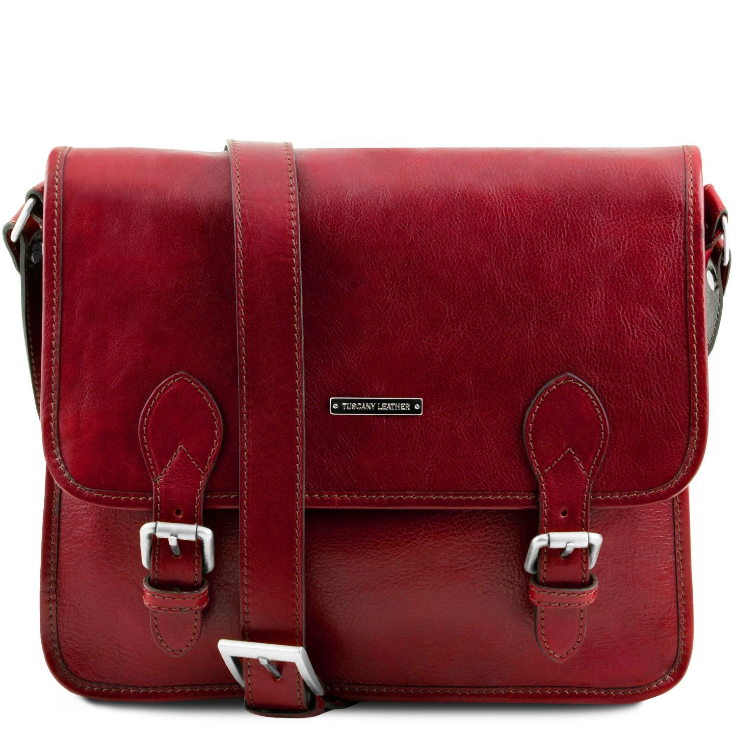 Tuscany Leather TL Postman Leather messenger bag Red